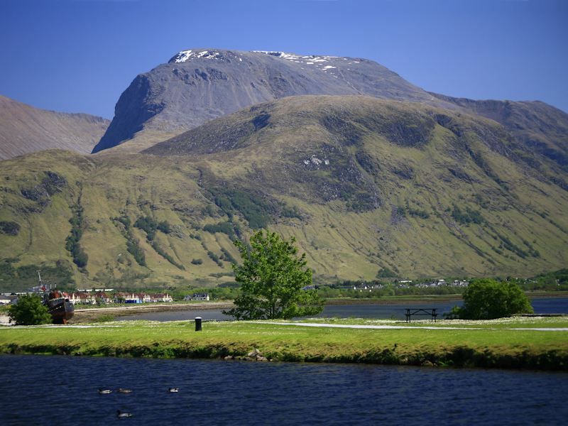 Ben Nevis seen from Corpach