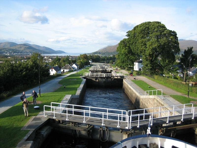 Neptune's Staircase on the Caledonian Canal at Corpach